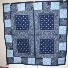 Navy Blue Light Blue Baby Quilt