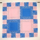 Pink and Blue Baby Quilt