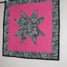 Pink Zebra Star Baby Quilt
