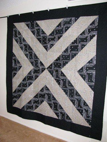 Black and Tan Bandana Quilt