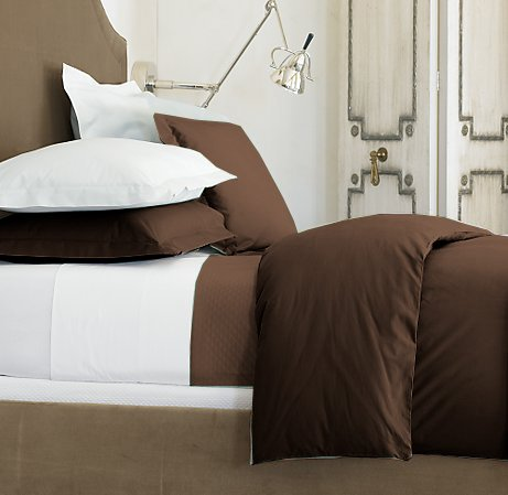 SHEET SET 100%EGYPTIAN COTTON QUEEN 1200 TC SATIN CHOCOLATE SOLID