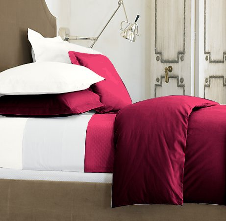 SHEET SET 100%EGYPTIAN COTTON TWIN 600TC SATIN BURGUNDY SOLID