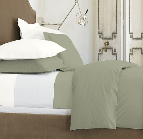 SHEET SET 100%EGYPTIAN COTTON TWIN 600TC SATIN SAGE SOLID