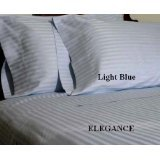 "DUVET COVER SET 3PCS 100%EGYPTIAN COTTON KING(106""X92"") 600TC  LIGHT BLUESOLID"