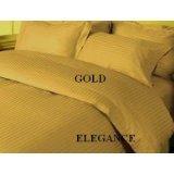 """DUVET COVER SET 3PCS 100%EGYPTIAN COTTON KING(106""""x92"""") 1000TC  GOLD SOLID"""