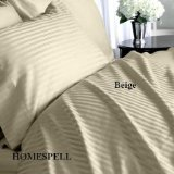 "DUVET COVER SET 3PCS 100%EGYPTIAN COTTON KING(106""x92"") 1200TC  BEIGE SOLID"