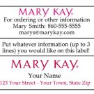 Personalized MARY KAY REPRESENTATIVE ADDRESS LABELS