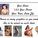 Personalized BETTIE PAGE ADDRESS LABELS Pin up girl