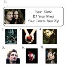 Personalized TWILIGHT ADDRESS LABELS New Robert so hot!