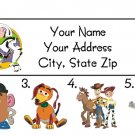 Personalized TOY STORY ADDRESS LABELS - Woody, Buzz