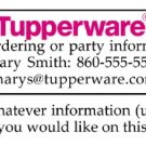 Personalized TUPPERWARE REPRESENTATIVE ADDRESS LABELS