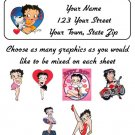 Personalized Adorable BETTY BOOP ADDRESS LABELS