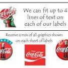 Personalized COCA COLA ADDRESS LABELS Coca-Cola