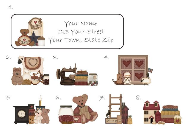 Personalized PRIM COLLECTIONS ADDRESS LABELS Bear Sheep