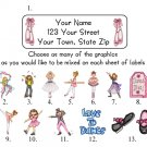 Personalized DANCE ADDRESS LABELS Ballet/Jazz/Tap, etc