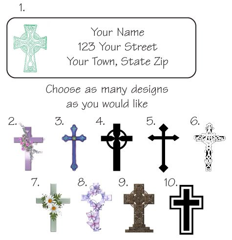 Personalized CROSS / CROSSES ADDRESS LABELS - New Item