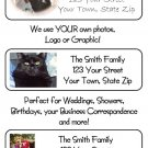 99 Personalized YOUR PHOTO or LOGO Address Labels