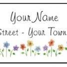 Personalized FLOWER GARDEN Line Address LABELS
