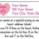 Personalized CANDY HEART ADDRESS LABELS Your Names