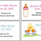 Personalized BABY SHOWER or NEW BABY ADDRESS LABELS