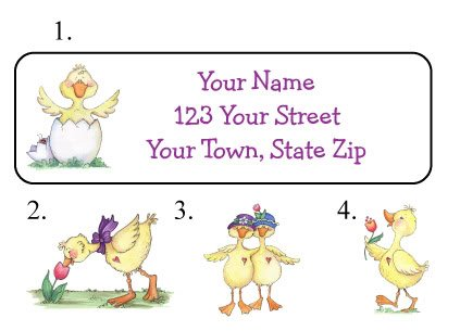 Personalized Just DUCKY DUCK ADDRESS LABELS Easter