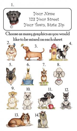 Personalized DOG BREEDS ADDRESS LABELS You Choose