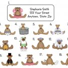 Personalized ADORABLE TEDDY BEARS ADDRESS LABELS Look!