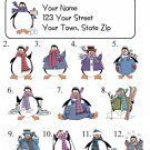 Personalized Adorable PENGUINS ADDRESS LABELS So Cute!