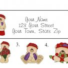 Personalized RED HAT Teddy Bears ADDRESS LABELS Red Hat