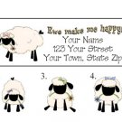 Personalized PRIM EWE / SHEEP ADDRESS LABELS So Cute!
