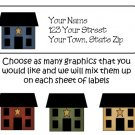 Personalized PRIM SALT BOX HOUSES ADDRESS LABELS #2