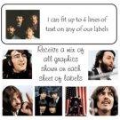Personalized BEATLES ADDRESS LABELS John, Paul, Ringo