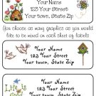 Personalized BIRD / BEE / LIFE is GOOD ADDRESS LABELS