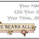 Personalized LOVE BEARS ALL Larger Size Address Labels