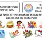 Personalized BIRTHDAY Goodie Goody Bag / ADDRESS LABELS