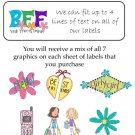Personalized GIRLY GIRL Best Friends ADDRESS LABELS