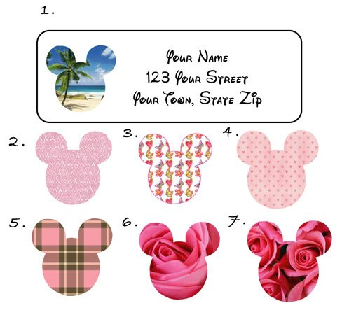 Personalized Very Cool MICKEY MOUSE EARS ADDRESS LABELS