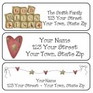 Personalized PRIM GOD BLESS USA ADDRESS LABELS