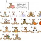 Personalized All Occasion TEDDY BEARS ADDRESS LABELS