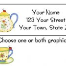 Personalized Cutest TEAPOT with LADYBUG Address LABELS