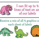 Personalized DINOSAURS Kids / Childrens ADDRESS LABELS