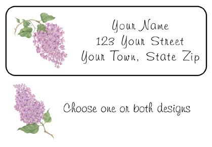 Personalized LILAC / LILACS Address LABELS Spring time