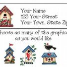Personalized Country Tole BIRDHOUSES Address LABELS