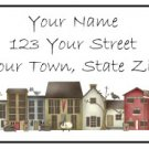 Personalized PRIM HOUSES Larger Size Address Labels
