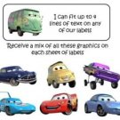 Personalized CARS ADDRESS LABELS - Great for Kids