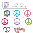Personalized PEACE SIGN ADDRESS LABELS U Choose Designs