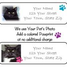 99 Personalized Custom YOUR PET'S PHOTO Address Labels