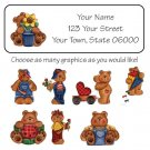 Personalized Country TEDDY BEARS ADDRESS LABELS