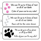 Personalized PAW PRINTS ADDRESS LABELS - CAT / DOG