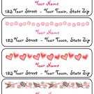 Personalized GIRLY ADDRESS LABELS Hi Tops/Flower/Guitar
